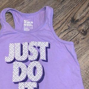 Nike Girl Purple Razor Back Tank Top - Size 6x
